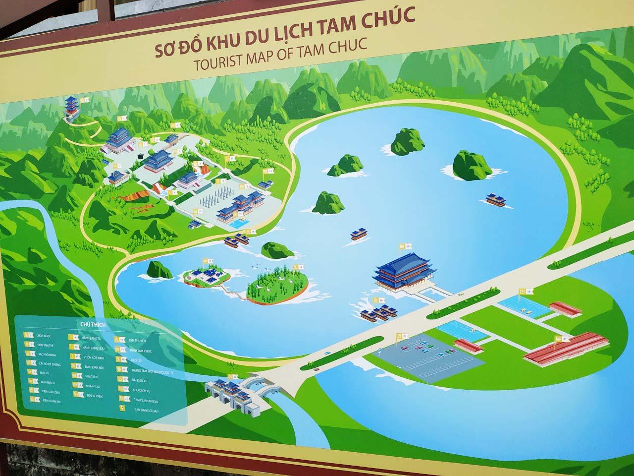 Khuông viên chùa Tam Chúc