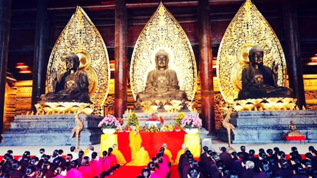 Tam điện chùa Tam Chúc